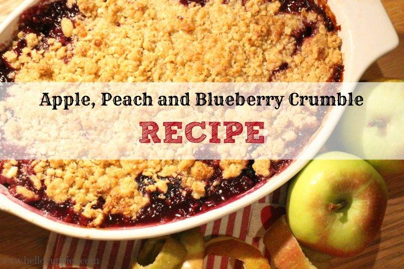 apple peach and blueberry crumble recipe easy and. Black Bedroom Furniture Sets. Home Design Ideas