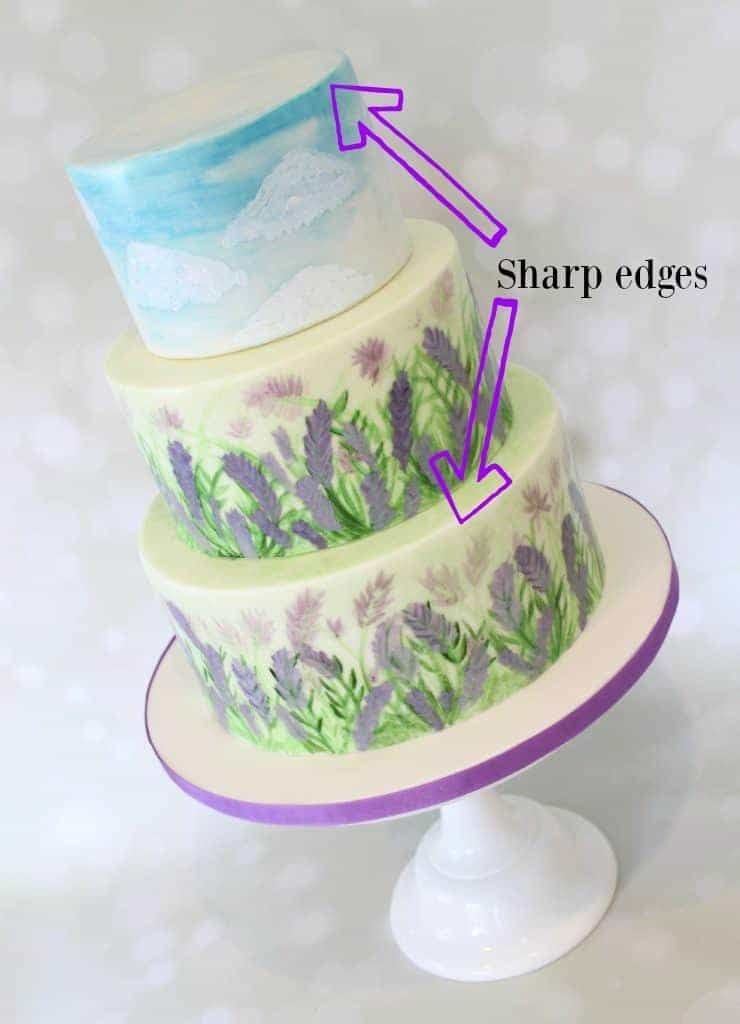 sharp edged cakes