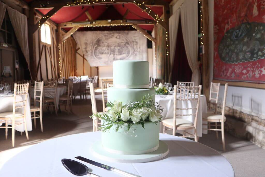 A Wedding Cake at Combe Manor Barn